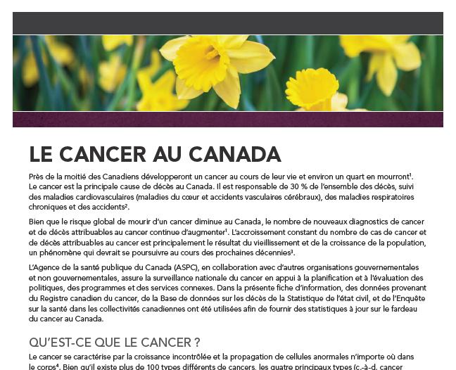 Le cancer au Canada